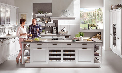 Kitchen island for sociable cooking