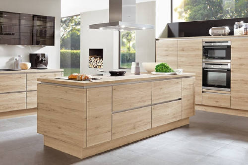 Kitchen island with storage drawers